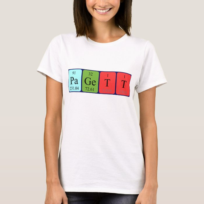 Pagett periodic table name shirt