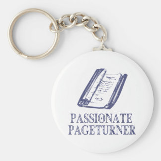 Pageturner apasionado llavero redondo tipo pin