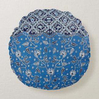 Pagi Sore/Day & Night Flower Batik Round Pillow