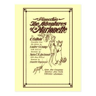 Página 1904 de cubierta de Pinocchio del vintage Postal