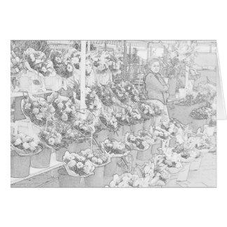 Página agradable del colorante del mercado de los tarjeta de felicitación