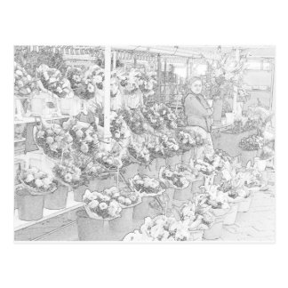 Página agradable del colorante del mercado de los tarjeta postal