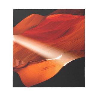 Página Arizona del barranco del antílope de la mon Blocs De Notas