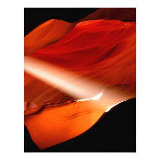 Página Arizona del barranco del antílope de la mon Membrete Personalizado
