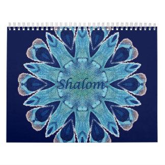 Página azul del estándar 2 de los corazones del calendario