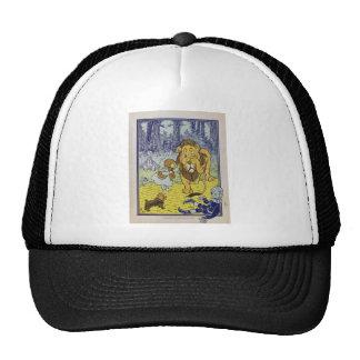 Página cobarde del libro de mago de Oz del león Gorra