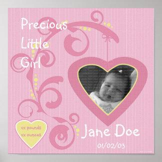Página colgante del libro de recuerdos del chica d póster