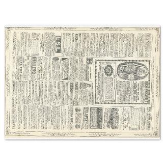 Página de anuncio del vintage papel de seda grande