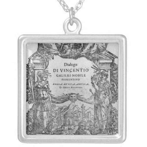 página de 'Della Musica Antica y del della Moderna Collar Plateado