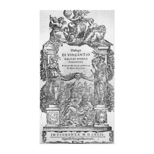 página de 'Della Musica Antica y del della Moderna Impresión En Lienzo