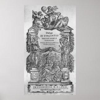 página de 'Della Musica Antica y del della Moderna Póster