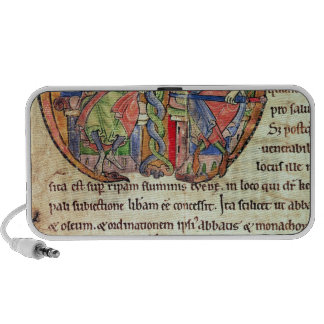 Página de la abadía de Kelso de la carta con Altavoz