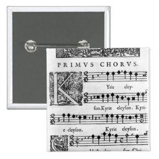 Página de la abertura de la masa para el coro dobl pins