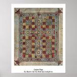 Página de la alfombra por el amo del libro de Lind Posters