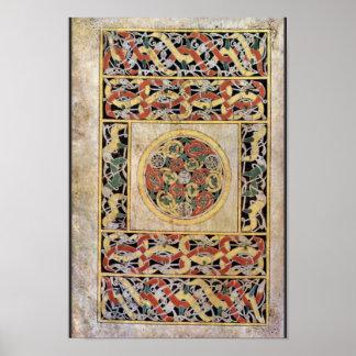 Página de la alfombra por el libro del DES de Meis Póster