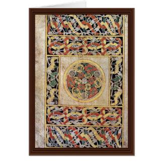 Página de la alfombra por el libro del DES de Meis Tarjeta De Felicitación