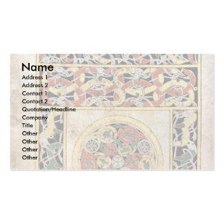 Página de la alfombra por el libro del DES de Meis Tarjetas De Visita
