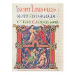 Página de la biblia de Winchester, c.1150-80 Postal