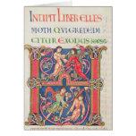 Página de la biblia de Winchester, c.1150-80 Tarjeta De Felicitación