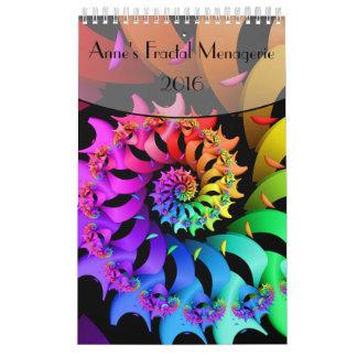 Página de la casa de fieras del fractal de Anne Calendarios De Pared