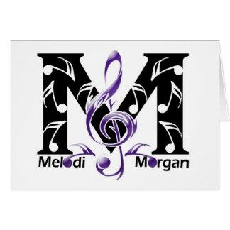 Página de la fan de Melodi Morgan Tarjeta De Felicitación