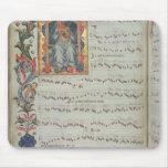 Página de la notación musical con historiated alfombrillas de ratón