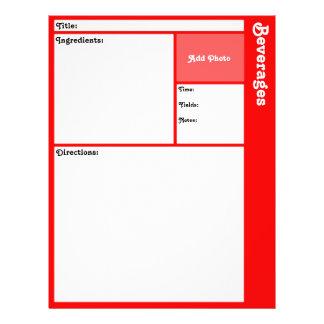 """Página de la receta (roja) folleto 8.5"""" x 11"""""""
