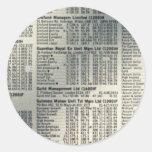 Página de las noticias financieras etiqueta