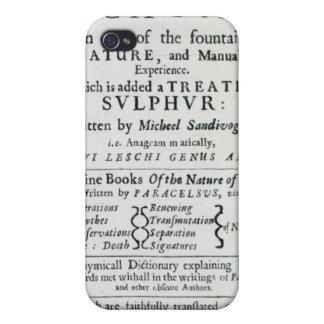 Página de título a la edición inglesa iPhone 4 funda