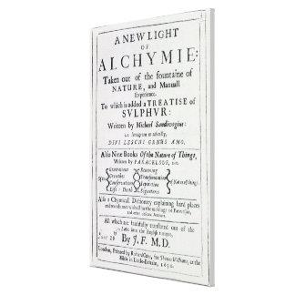 Página de título a la edición inglesa lona estirada galerías