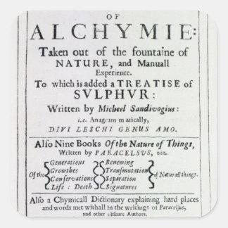 Página de título a la edición inglesa colcomanias cuadradas
