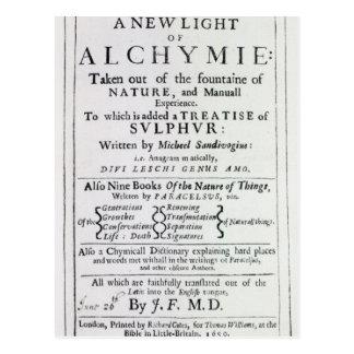 Página de título a la edición inglesa postal
