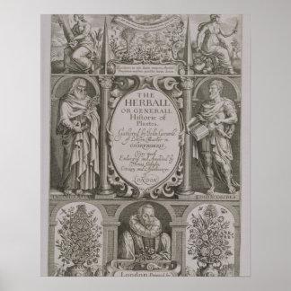 Página de título a la segunda edición 'del Herball Posters