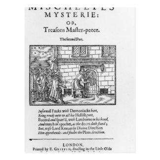 Página de título a 'Mischeefes Mysterie o Postal