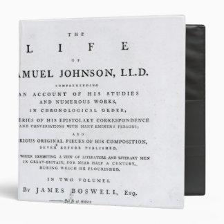 Página de título, a partir 'de la vida de Samuel