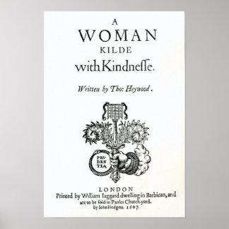 Página de título 'a una mujer matada con las amabi póster