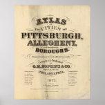Página de título atlas de Pittsburgh, Allegheny Póster