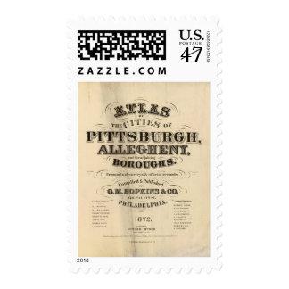 Página de título atlas de Pittsburgh, Allegheny Sello Postal