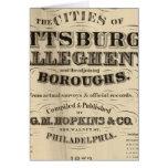 Página de título atlas de Pittsburgh, Allegheny Tarjeta De Felicitación