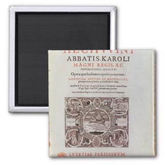 Página de título de 'Abbatis Karoli Magni Regis Imanes De Nevera