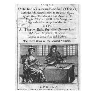 Página de título de Deliciae Musicae Tarjetas Postales