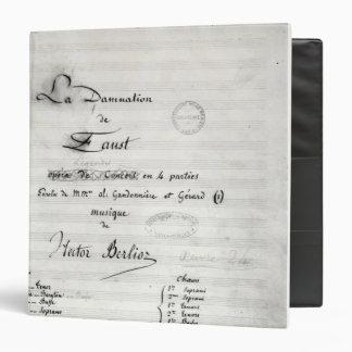 """Página de título de 'La Damnation de Faust' Carpeta 1 1/2"""""""
