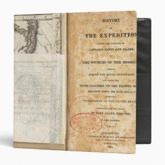 Página de título de la historia de la expedición