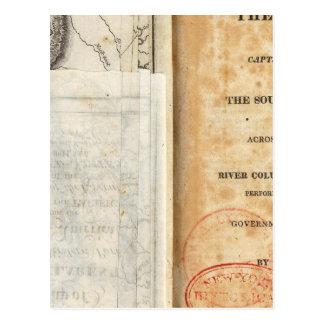 Página de título de la historia de la expedición tarjetas postales