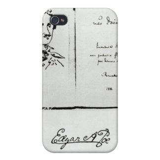 """Página de título de """"Les Poemes"""" por Edgar Allan P iPhone 4 Funda"""
