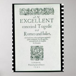Página de título de 'Romeo y de Juliet Posters