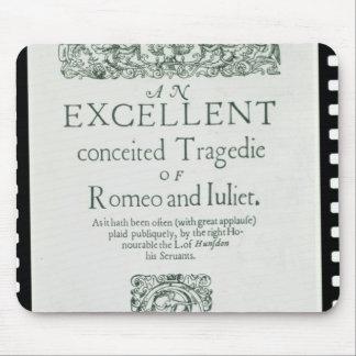 Página de título de 'Romeo y de Juliet Tapetes De Raton