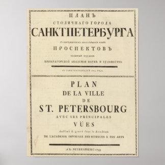 Página de título de St Petersburg, Rusia Póster