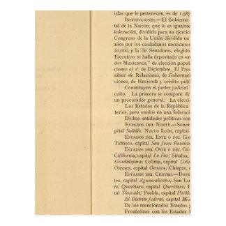 Página de título del atlas 1874 de México Postal
