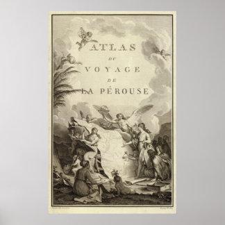 Página de título del atlas de Francia Poster